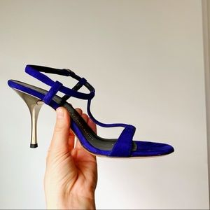 🍉SUMMER SALE🍉 Giuseppe Zanotti Blue Silver Heels
